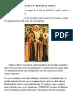 Rugaciune Catre Sfanta Marta