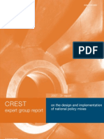 Policy Mix Peer Reviews - The report of the CREST Policy Mix Expert Group