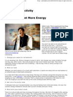55 Ways to Get More Energy ..