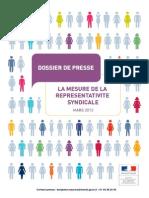 Dossier de Presse - Mesure de La Représentativité Syndicale