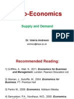 lecture 2 supply and demand microeconomics c-major