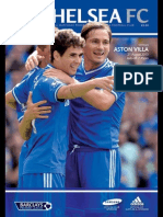 Chelsea vs Aston Villa 21st August 2013 Chelsea FC Official Matchday Programme Notes