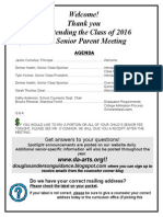 Fall Senior Parent Meeting 2015-2016