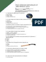 prueba 4º basico Ciencias Naturales