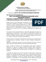 Nota de Prensa 044 - Minam Capacitará a Equipo Técnica de La Arma y Sede Del Gra Sobre Uso y Manejo de Geoservidor Para El Ordenamiento Territorial