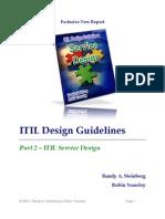 Itil v3 Service Design Guidelines
