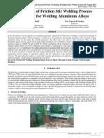 Optimization of Friction Stir Welding Process Parameters for Welding Aluminium Alloys