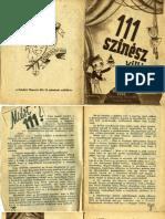 111 színész villáméletrajza (1941)