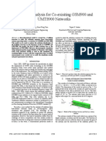 Radiation Analysis for Co-exisiting GSM900 and UMTS900 Networks