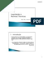 Slides 03 - Legislação e Normas Técnicas