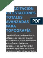 Capacitación en Estaciones Totales Avanzadas Para Topografía