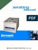 Serospin Operating Manual 20100407