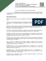 Ementa e Bibliografia - HISTORIA SOCIAL DO TRABALHO - Historia e Historiografia