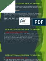Normativa Americana y Europea Diapos