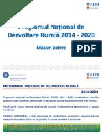 0-Prezentare Masuri Active PNDR 2014 2020