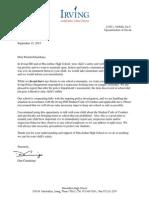 MacArthur Principal Letter to Parents