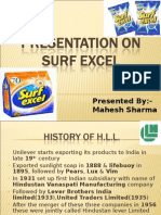 Presentation on Surf Excel 2003