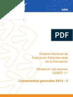 Lineamientos Generales SABER 11 2014 -2.pdf