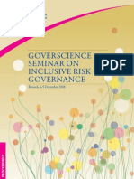 GOVERSCIENCE SEMINAR ON INCLUSIVE RISK GOVERNANCE
