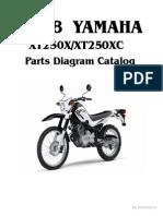 Listado de Partes Yamaha XT 250