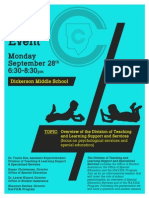 Special Ed Parent Event Flyer (Dickerson)