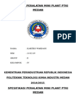 Spesifikasi Peralatan Mini Plant Ptki Medan