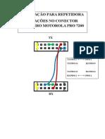 Ligações No Conector Trazeiro Motorola Pro 7200