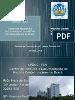 Apresentação ppt sobre CPDOC