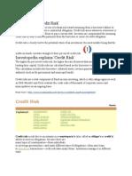 Definition of Credit Risk