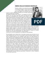 LAS PRIMERAS CELULAS HUMANAS INMORTALES.rtf