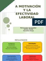 La motivación y la efectividad Laboral