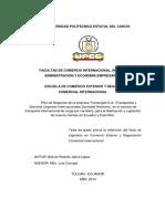215 Plan de Negocios de La Empresa Transurgint s.a., En El Servicio de Transporte Internacional de Carga Por Carretera, Para La Fidelización y Captación de Nuevos Clientes en Ecuador y Colombia - Bolívar