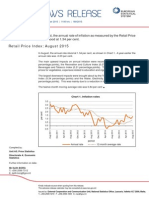 Malta Inflation report August 2015