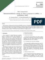 2001 Immunomodulatory Activity of Punica Granatum in Rabbits—a Preliminary Study