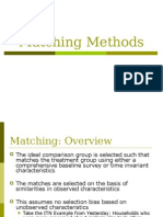 Matching Methods