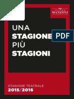 Teatro Manzoni_Brochure 2015-16