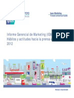 IGM Habitos y Actitudes Hacia La Prensa Escrita 2012