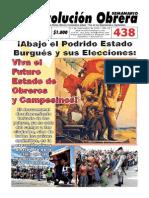 Semanario Revolución Obrera Edición No. 438