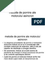 4.Metode de Pornire Ale Motorului Asincron
