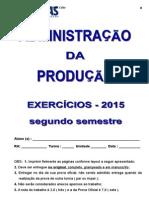Producao - Lista de Exercicio 2015 - Prof. Celio