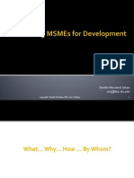 Promoting MSMEs for Development