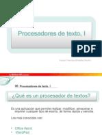 Procesadores de Texto I