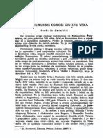 Srpsko-Rumunski Odnosi XIV-XVII veka
