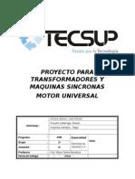 Motor Universal - Transformadores y Maquinas Sincronas - Huayhua , Arivilca , Rosado
