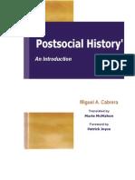 Miguel A Cabrera Postsocial History
