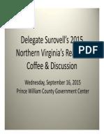 Del. Scott Surovell 2015 NVAR Presentation