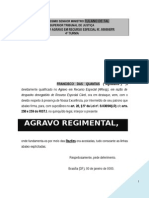Agravo Regimental STJ Decicao Monocratica Negativa Seguimento Recurso Agravo Instrumento Indenizacao Majorar PN222
