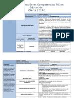 Plan de Formación en Competencias TIC en Educación - Oferta 2014-2