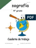Quinto de Primaria Cuaderno de Trabajo Geografia 2015-2016