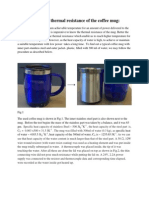 determination of thermal resistance of the coffee mug